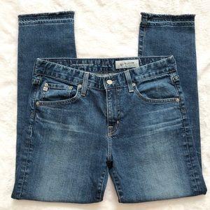 AG The Ex Boyfriend Slim Slouchy Exposed Hem Jeans